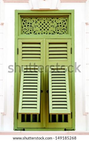 green window thai style - stock photo