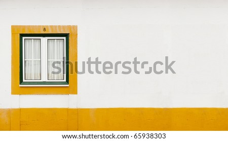 green window with yellow line