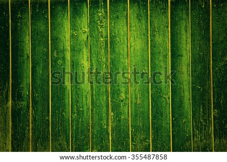 Green wood texture with an array of knots and ring lines. - stock photo