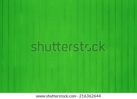 green wooden background of beach huts in Miami - stock photo