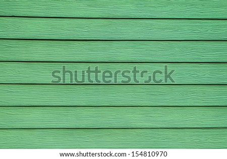 Green Wooden Wall Background - stock photo