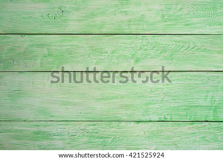 green wooden wall. natural green wood background - stock photo