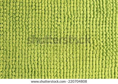 Green wool texture background close up - stock photo