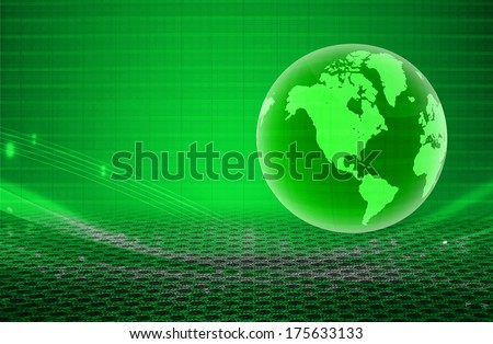 green world business background