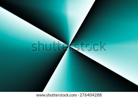 Green X Fractal - stock photo