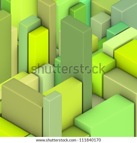 green yellow abstract pattern tile mosaic surface backdrop - stock photo
