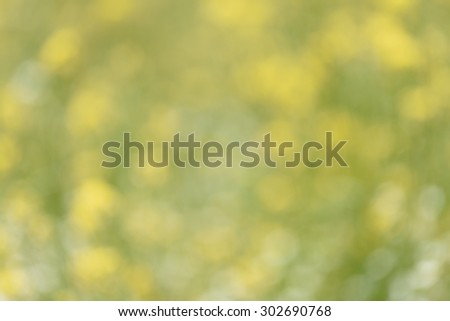 Green yellow defocused bokeh lights background  - stock photo
