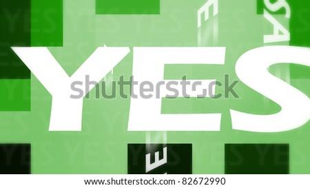 Green yes illustration - stock photo