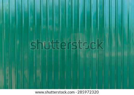 Green zinc wall,background - stock photo