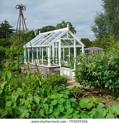Greenhouse English Vegetable Garden Stock Photo Royalty Free