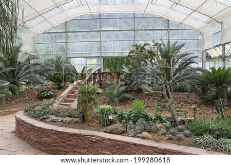 Greenhouse in Queen Sirikit Botanical Gardens, Chiang Mai Province Thailand. - stock photo