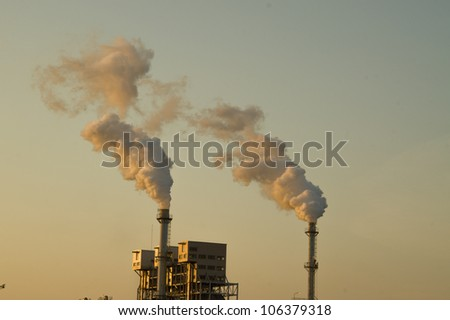 Greenhouse stack - stock photo