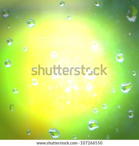 greenish yellow merging - stock photo