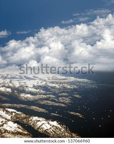 Greenland and Greenland Sea - stock photo