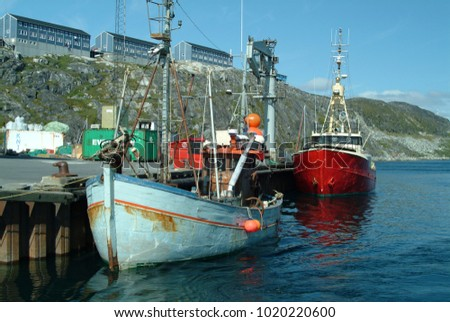 Greenland 8504 Blue Whaler Harpoon Gun Stock Photo 1020220600