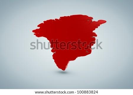 Greenland Map - stock photo