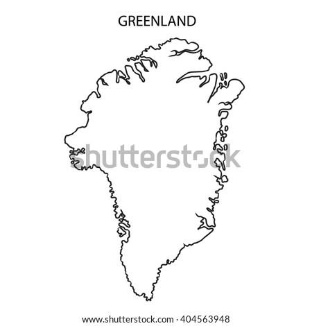 Greenlandmap Stock Images RoyaltyFree Images Vectors - Greenland map