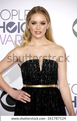 Greer Grammer at the 41st Annual People's Choice Awards held at the Nokia L.A. Live Theatre in Los Angeles on Tuesday January 7, 2015.