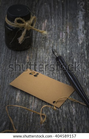 greeting card and pen