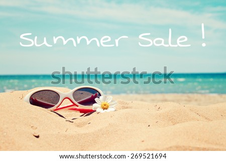 greeting card background - beach holidays - stock photo