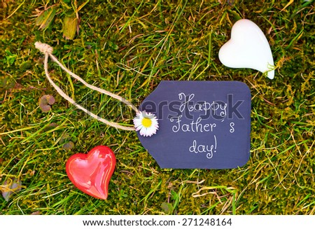 greeting card background for fathers day - stock photo