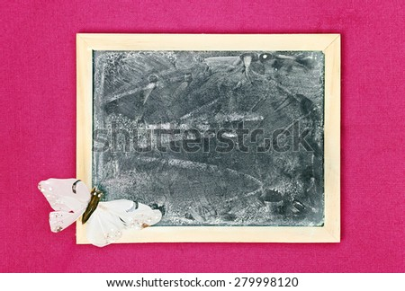 greeting card background for your text - blackboard - stock photo