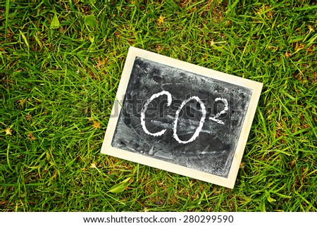 greeting card background for your text - blackboard - co 2 - stock photo