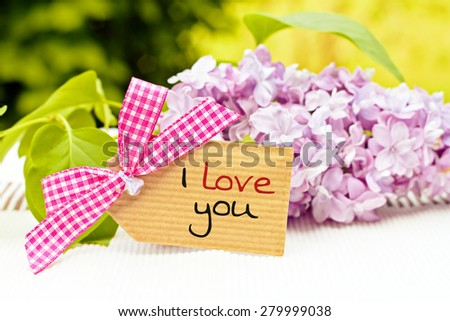greeting card background for your text - i love you - stock photo
