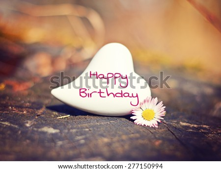 greeting card background - happy birthday - stock photo