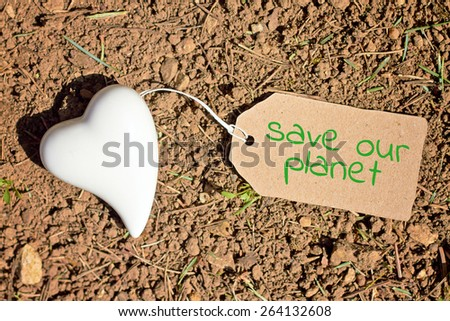 greeting-card background - save our planet - stock photo
