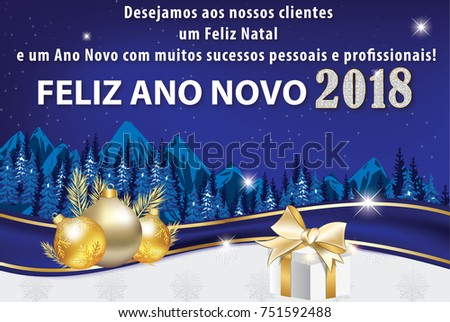 2018 korean business christmas new year stock illustration greeting card designed for the portuguese speaking companies text translation we wish to our reheart Image collections