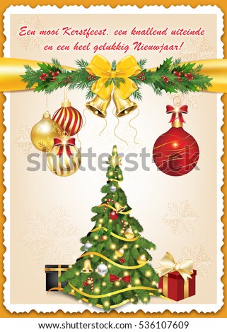 Greeting card christmas new year dutch stock illustration 536107609 greeting card for christmas and new year dutch language print colors used size m4hsunfo