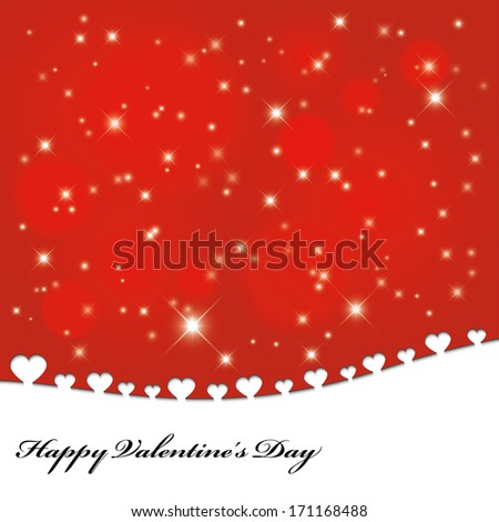 greeting card for valentine's day.(rasterized version) - stock photo
