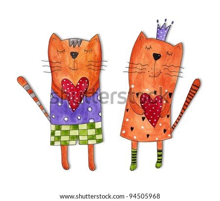 Greeting card for Valentines Day - stock photo