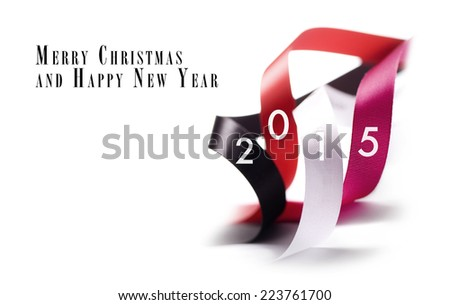 Greeting Card - Happy New Year 2015 - stock photo