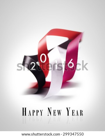 Greeting Card - Happy New Year 2016 - stock photo