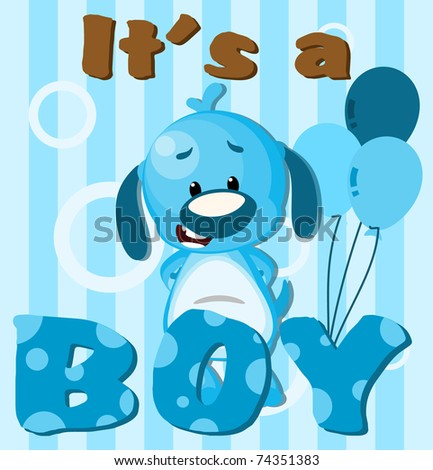 Greeting card It's a boy card