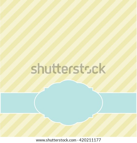 Greeting card or the invitation with diagonal lines