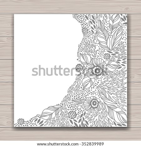 Greeting card set abstract background contour stock illustration greeting card set with abstract background with contour drawing of flowers place for text m4hsunfo Images