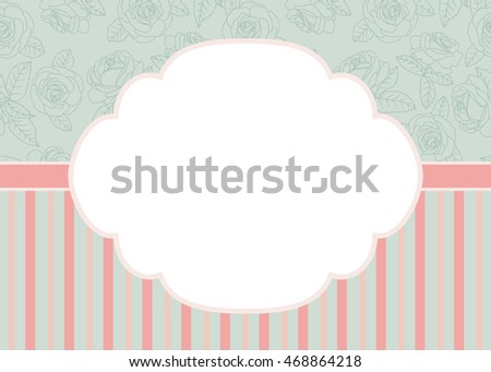 Template Frame Design Greeting Card Vector Stock Vector