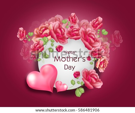 Greeting card mothers day pink flowers stock illustration 586481906 greeting card to mothers day with pink flowers and pink hearts m4hsunfo
