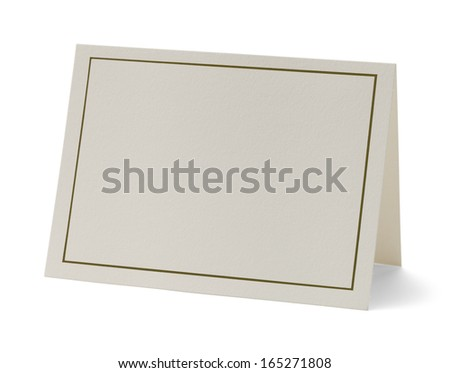 Greeting Card with Copy Space Isolated on White Background. - stock photo