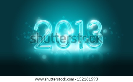 Greeting happy new year card