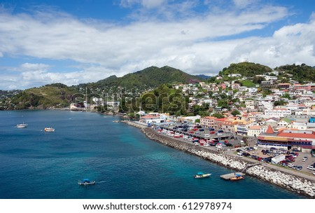 Grenada island - Saint George's town and bay