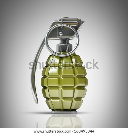 Grenade  High resolution 3d  - stock photo