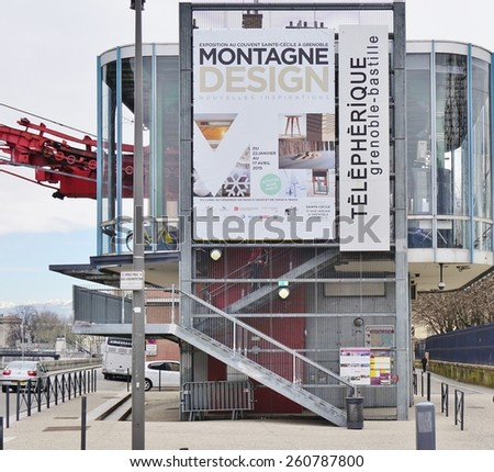 GRENOBLE, FRANCE -26 FEB 2015- Editorial: The town of Grenoble, the capital of the French department of Isere at the foot of the Alps mountains, is a leading European city for high-tech industries.
