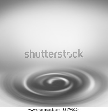 grey abstract background with white copy space and swirl decorative element as abstract interior design template - stock photo