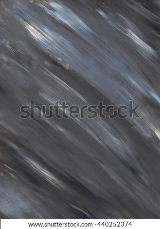 Grey abstract hand drawn acrylic background, raster illustration. Grunge paper. Dynamic paint brush textures. - stock photo