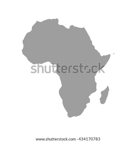 grey africa map africa map blank