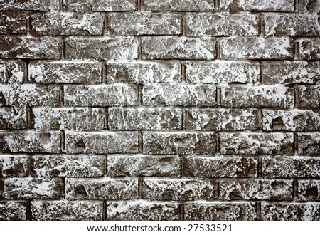 Grey aged brick-wall - concept background